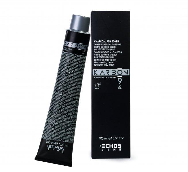 Echosline Karbon 9 - profesionálne farby na vlasy bez PPD s aktívnym uhlím, 100 ml