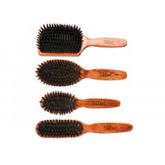 Eurostil Cushion Brush Wooden Boar - kefy na rozčesávanie vlasov, diviačie štetiny