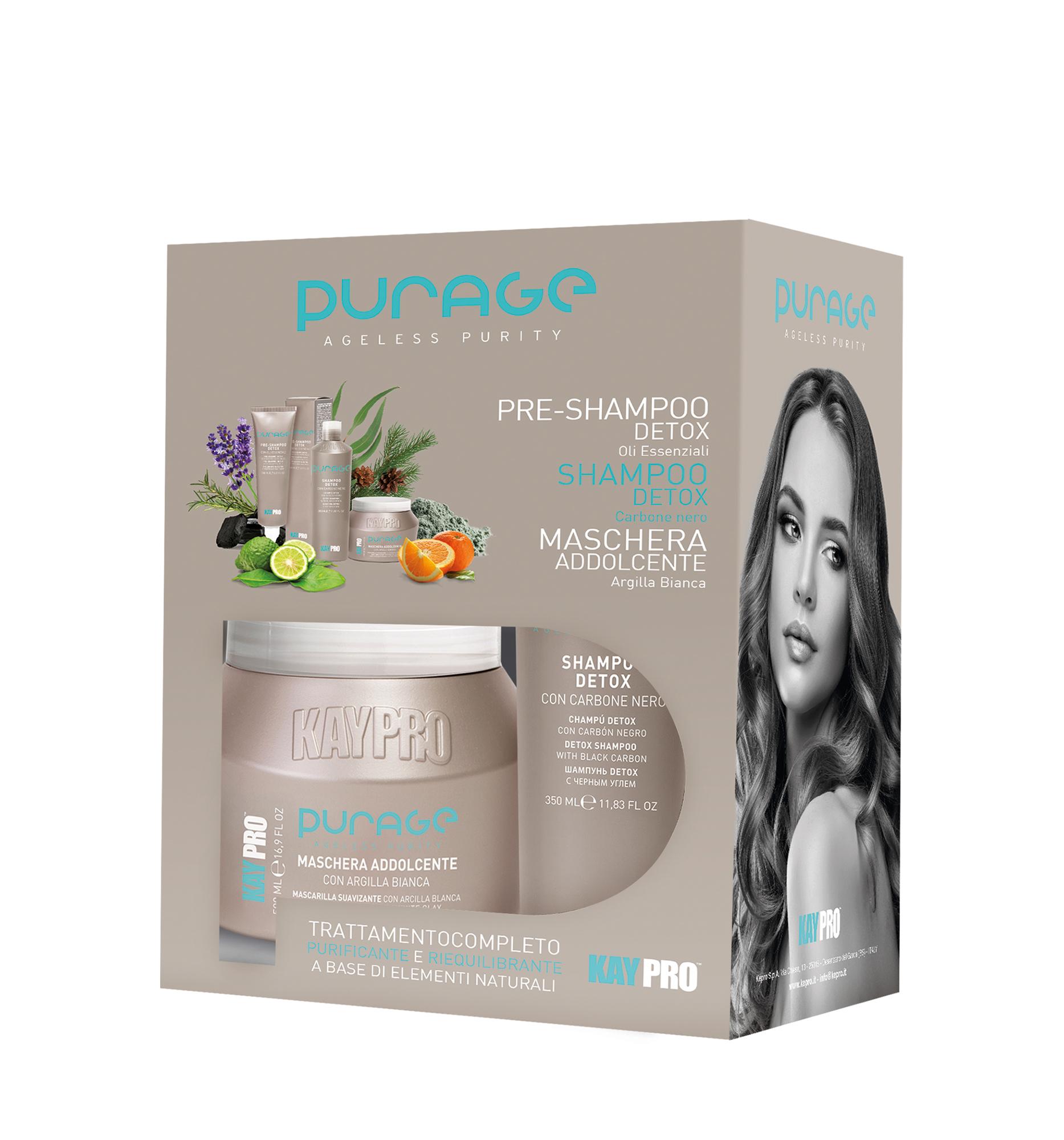 KAYPRO Purage Ageless Purity Kit - detoxikační set na vlasy