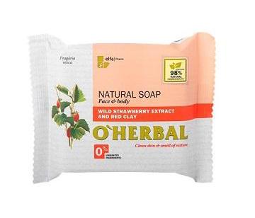 O´Herbal Natural Wild Strawberry - prírodné mydlo s extraktom lesných jahôd a červenej hliny, 100 g
