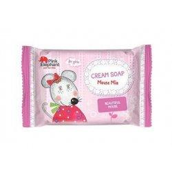 Pink Elephant Myška Mia - krémové mýdlo pro dívky, 90 g