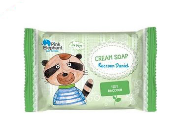 Pink Elephant Mýval Daniel - krémové mydlo pre chlapcov, 90 g