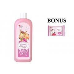 Pink Elephant Veverička Anička - šampón-kondicionér pre dievčatká, 500 ml + detské mydlo, 90 g