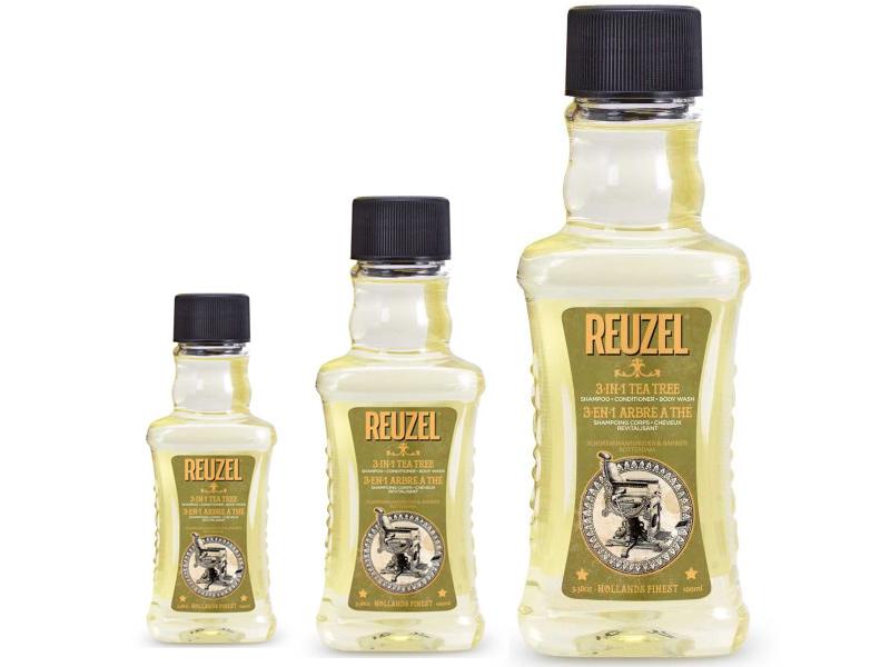 REUZEL 3-in-1 Tea Tree Shampoo - šampón 3v1 s čajovníkom