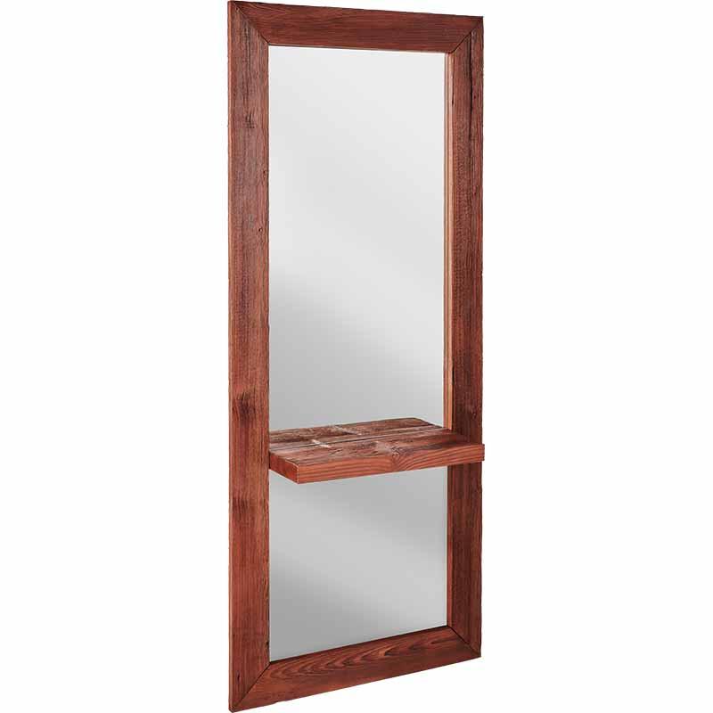 Ayala Wood II Styling Unit - kadernícke zrkadlo