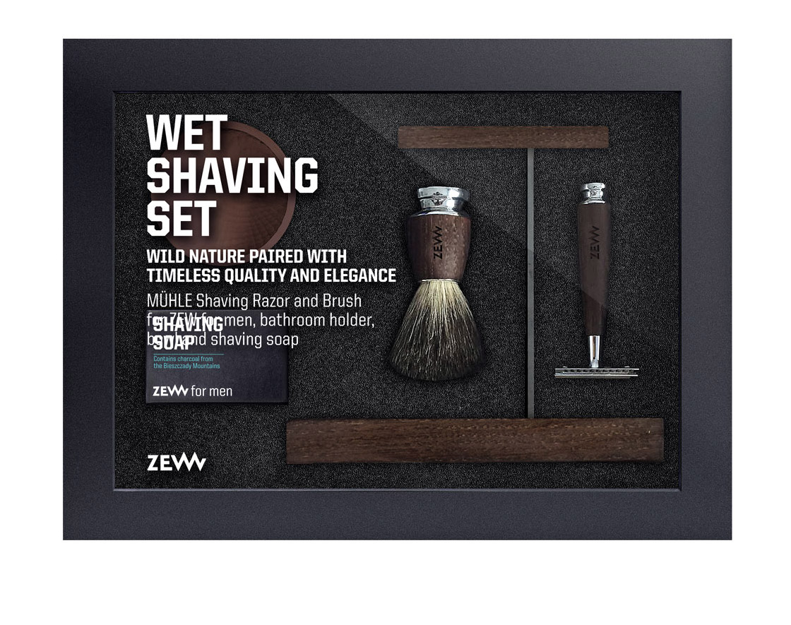 ZEW for men Wet Shaving Set 8258 - pánská sada