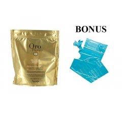 AKCIA: Fanola Oro Therapy De-color KERATIN - melírovací prášok s keratínom a argánovým olejom, 500 gr + pláštenky 30 ks