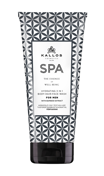 Kallos SPA Hydrating 3in1 gel wash for Men - sprchový gél pre mužov 3v1, 200 ml