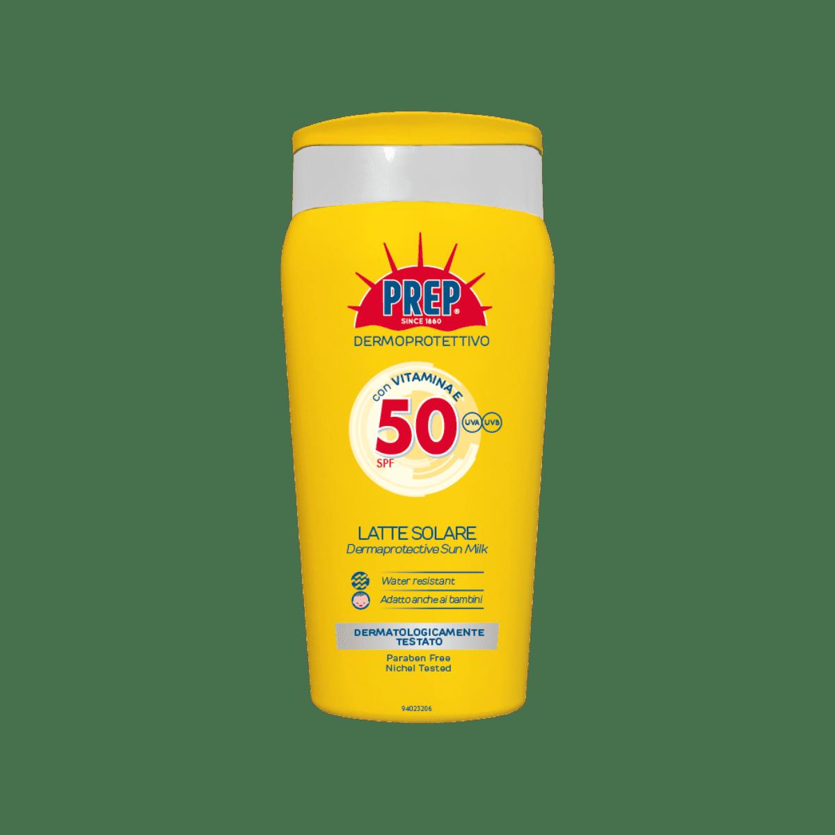 PREP Derma Protective Sun Milk SPF 50 - ochranné opalovací mléko, 200 ml