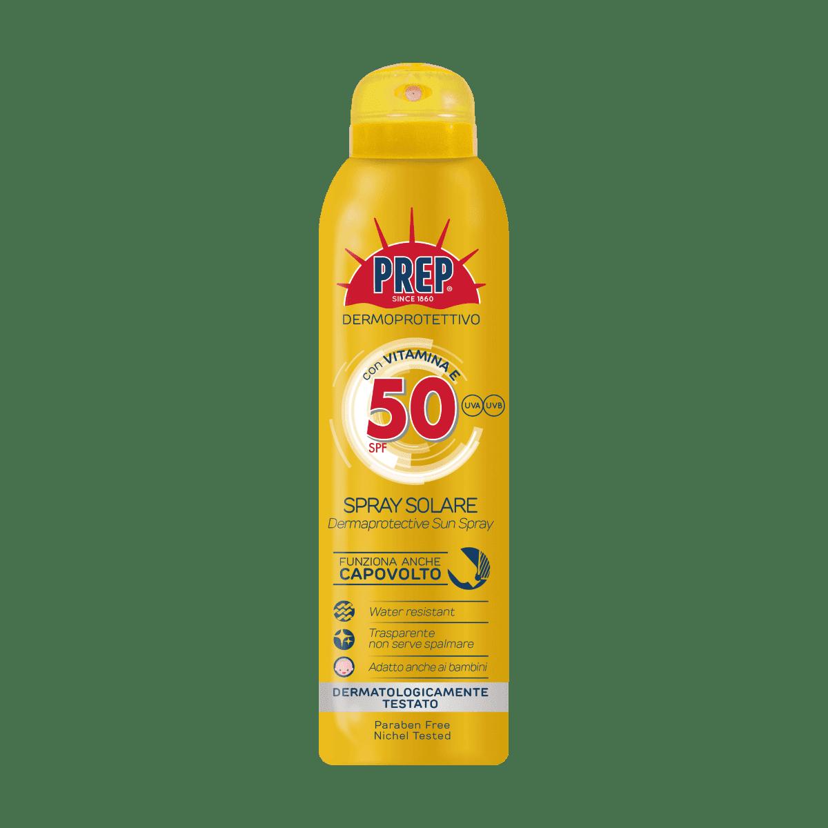 PREP Derma Protective Sun Spray SPF 50 - ochranný sprej na opaľovanie, 150 ml