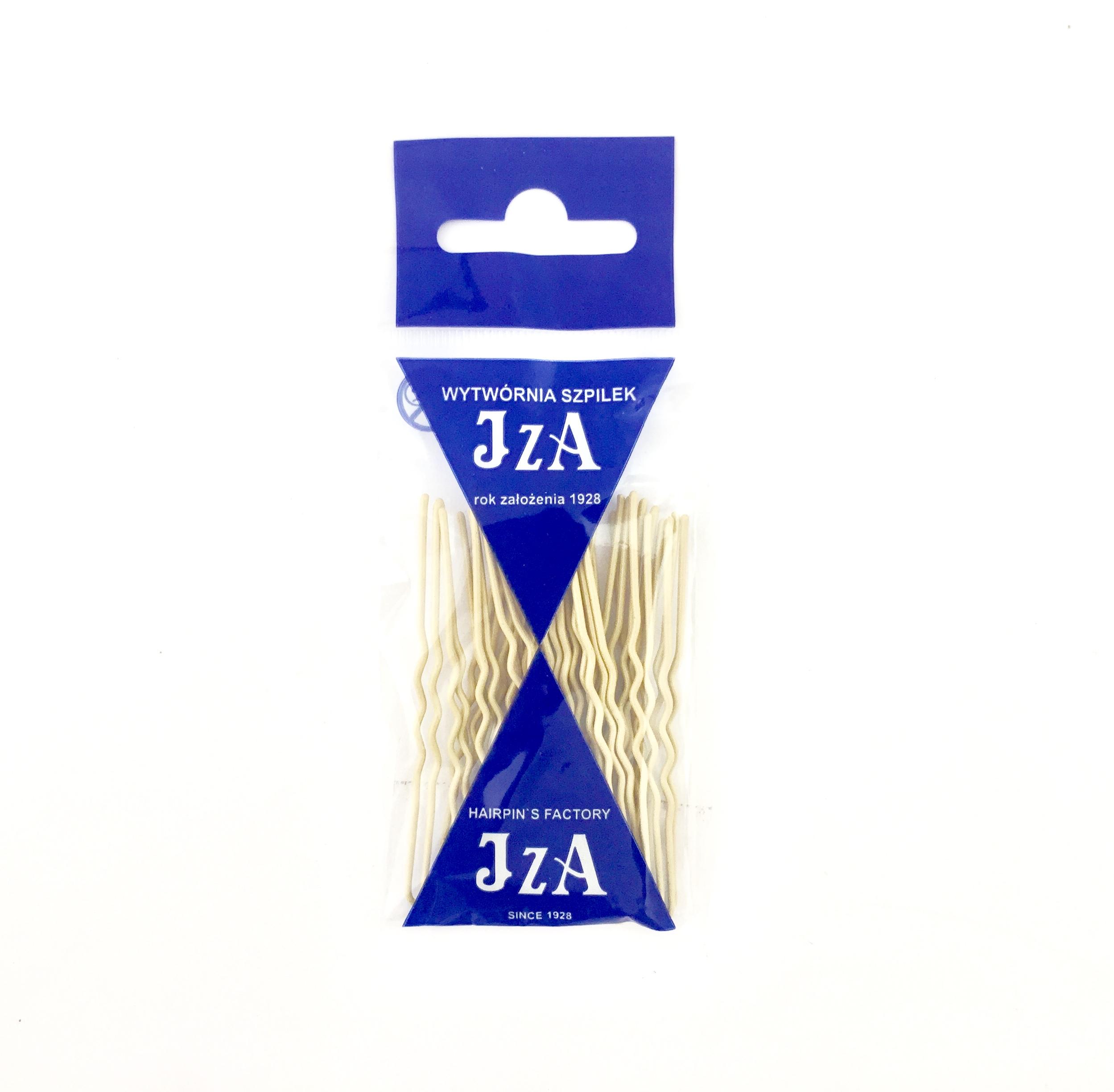 Vlásenky do vlasov profilované, farba krémová 6,5 cm, 20 ks