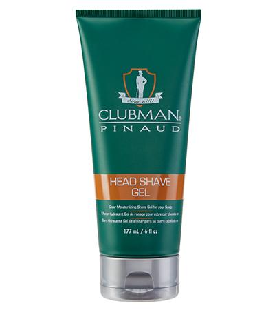Clubman Head Shave gel 0005 - transparentní gel na holení, 177 ml