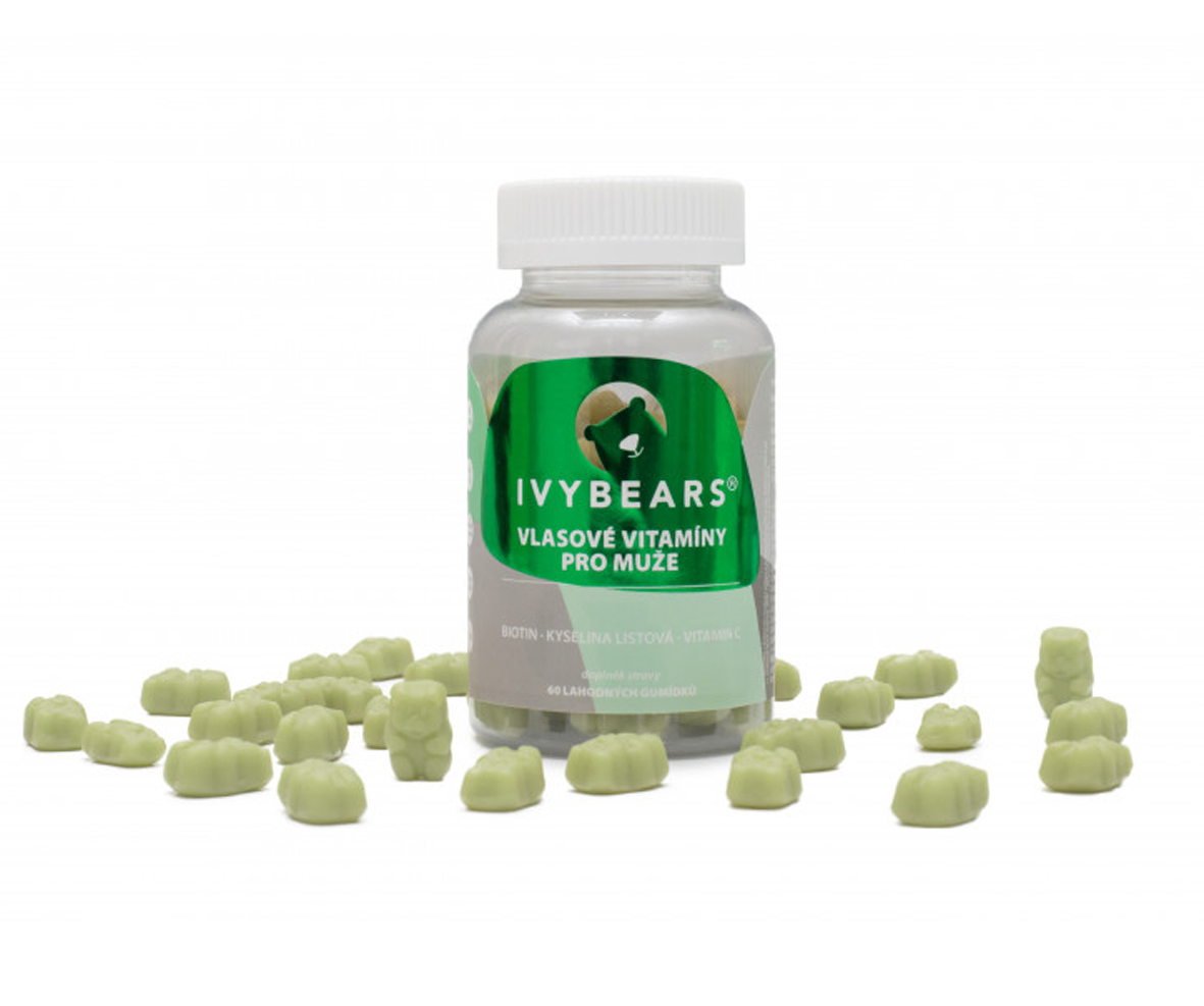 IVY Bears - vlasové vitamíny pre mužov, 60 ks