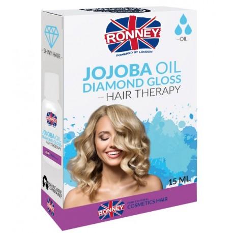 Ronney Professional Hair Oil Jojoba Oil Diamond Gloss - jojobový olej pre lesk na vlasy, 15ml
