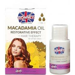Ronney Professional Hair Oil Macadamia Oil Restorative Effect - spevňujúci olej na vlasy, 15ml