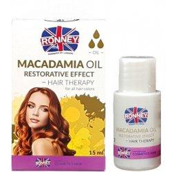 Ronney Professional Hair Oil Macadamia Oil Restorative Effect - zpevňující olej na vlasy, 15ml