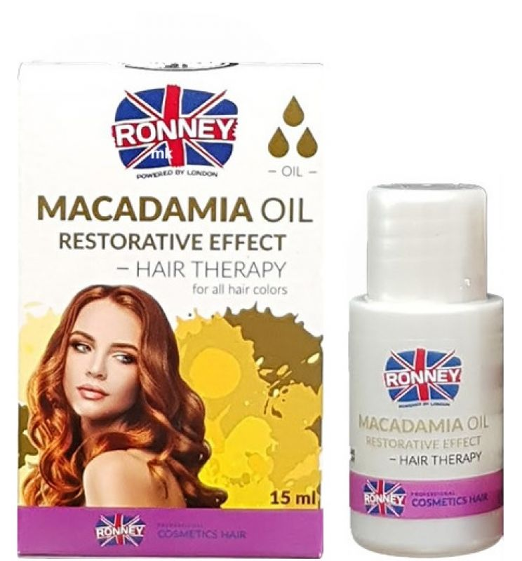 Ronney Professional Hair Oil Macadamia Oil Restorative Effect - zpevňující olej na vlasy, 15ml