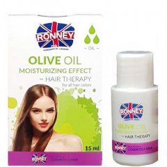 Ronney Professional Hair Oil Olive Oil Moisturizing Effect - olej pro suché vlasy, 15ml