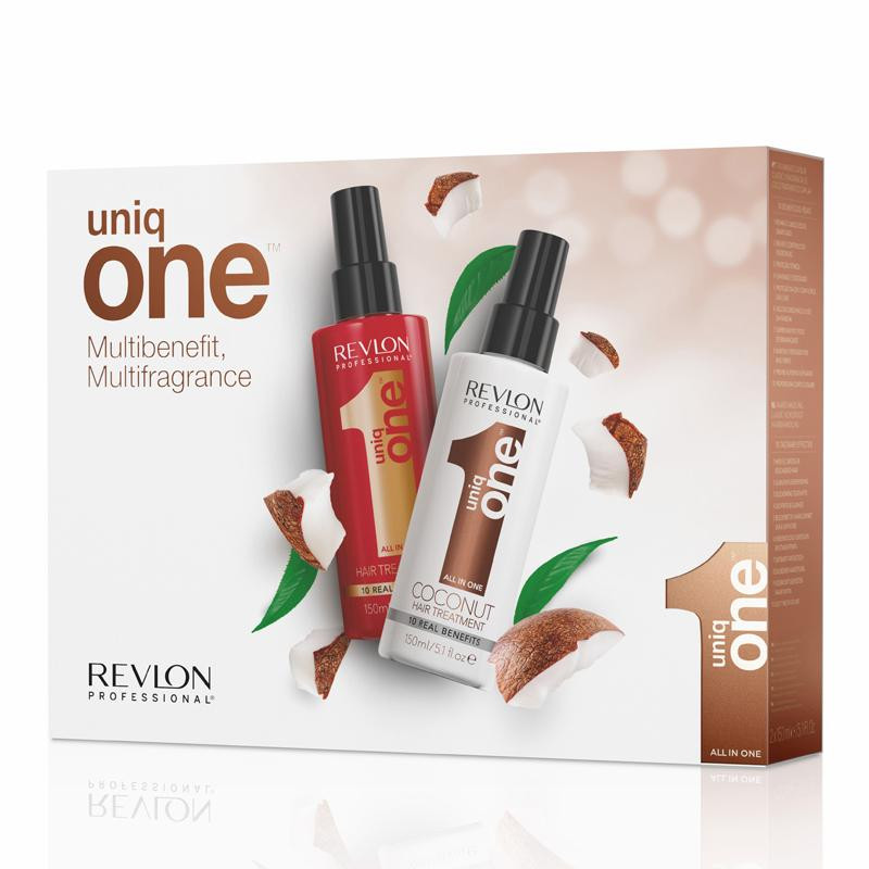 Uniq One DUO Pack Classic and Coconut - set regeneračných kúr klasik, 150 ml + kokos, 150 ml