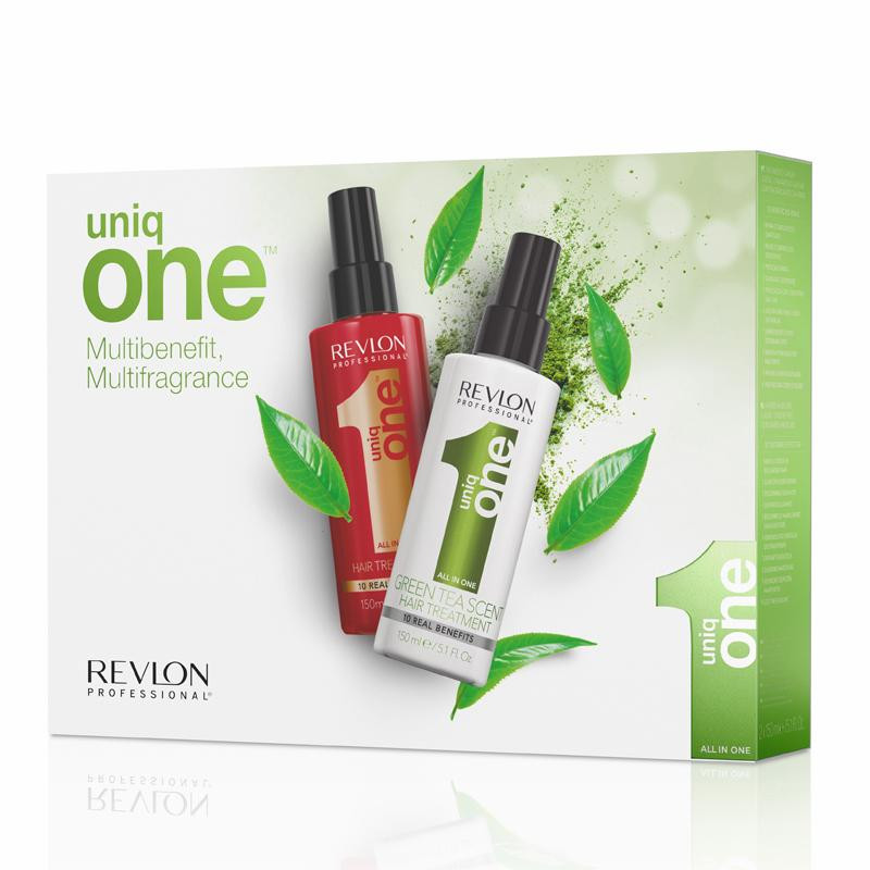Uniq One DUO Pack Classic and Green Tea - set regeneračných kúr klasik, 150 ml + zelený čaj, 150 ml