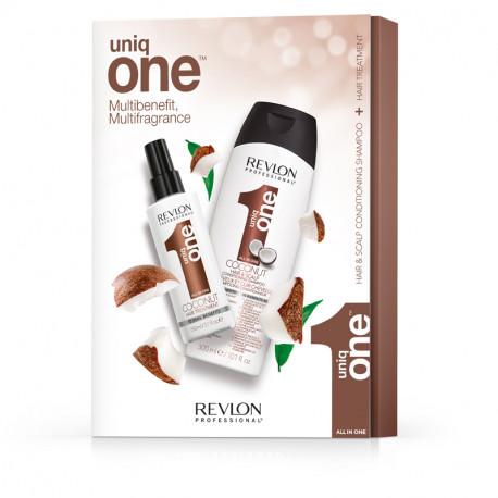 Uniq One DUO Pack Coconut - kokosová regeneračná kúra, 150 ml + kokosový šampón, 300 ml