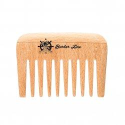 Barber Line Wooden Comb 04548 - hřeben na bradu