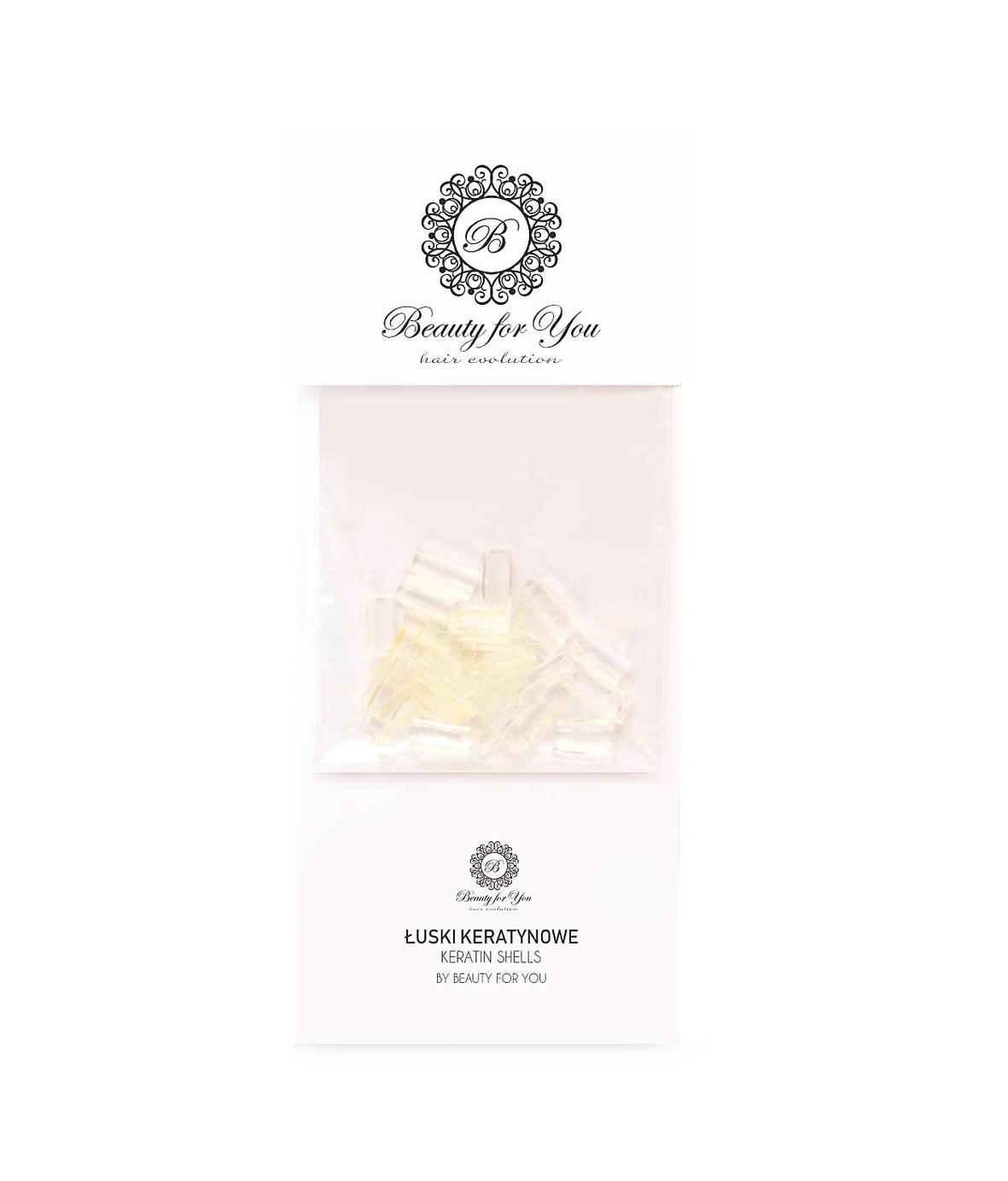 Beauty for You Keratin shells - keratínové lusky na predlžovanie vlasov, transparentné, 30 ks