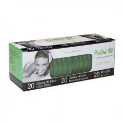 Polié Wax Discs Aloe Vera 04070 - depilačné voskové disky aloe vera, 20 ks