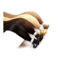 Beauty for You Slovanské vlasy - rovné pramene s plochým hrotom, vlasy 40 cm, pre keratínovú alebo ultrazvukovú metódu