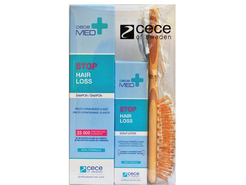 Balíček: Cece Med set - šampon, 300 ml + tonikum, 75 ml + masážní kartáč