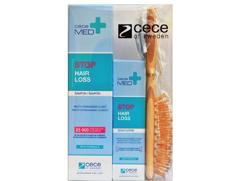 Balíček: Cece Med set - šampón, 300 ml + tonikum, 75 ml + masážna kefa