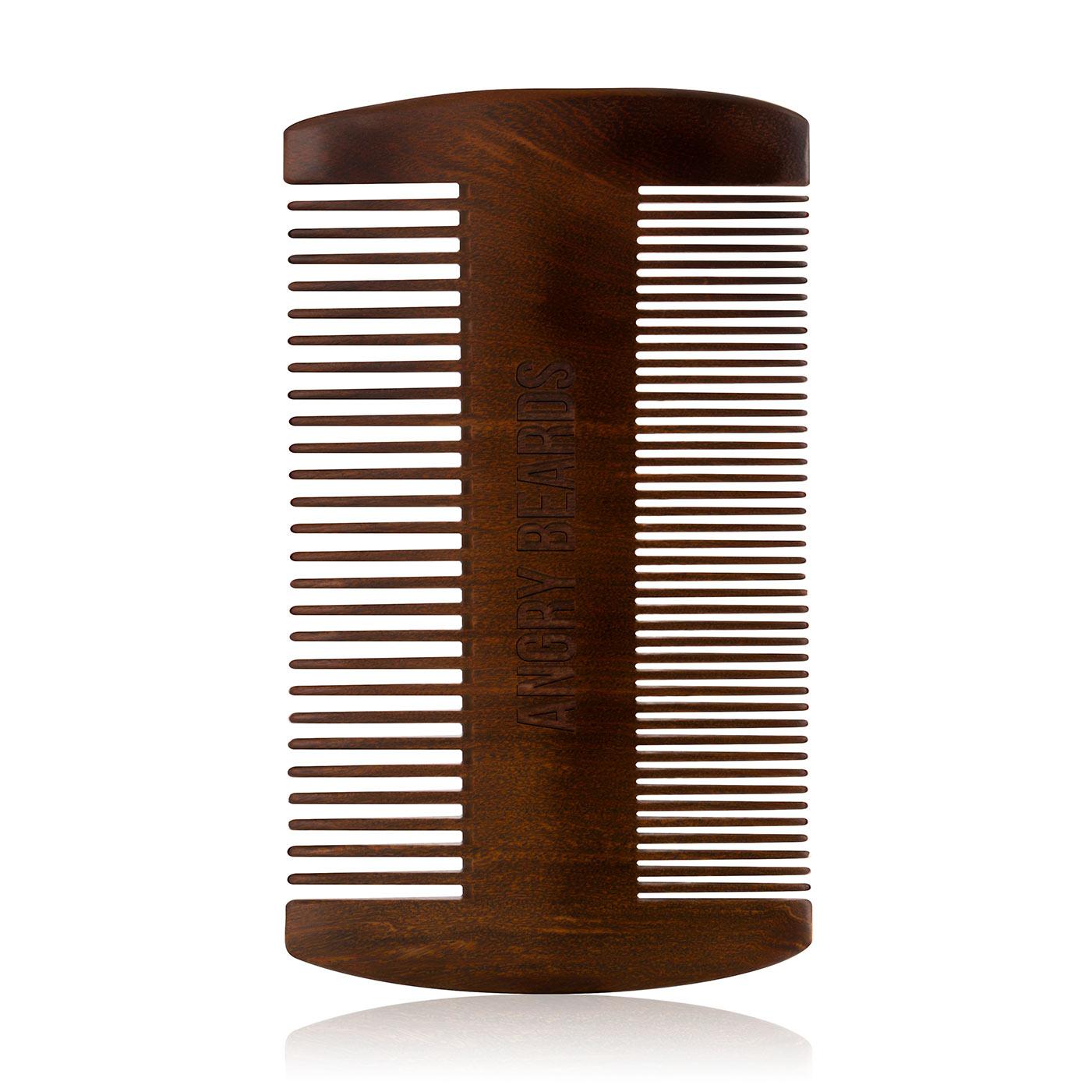 Angry Beards - drevený hrebeň na bradu