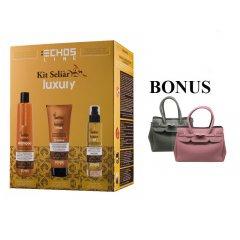 Balíček: Echosline Seliár Luxury - ošetrenie pre intenzívnu hydratáciu vlasov +  neoprénová kabelka