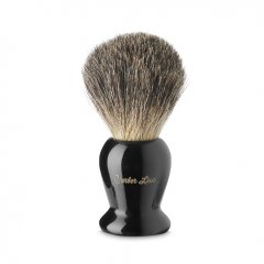 Barber Line Shaving Brush Black Handle 06183 - štetka na holenie