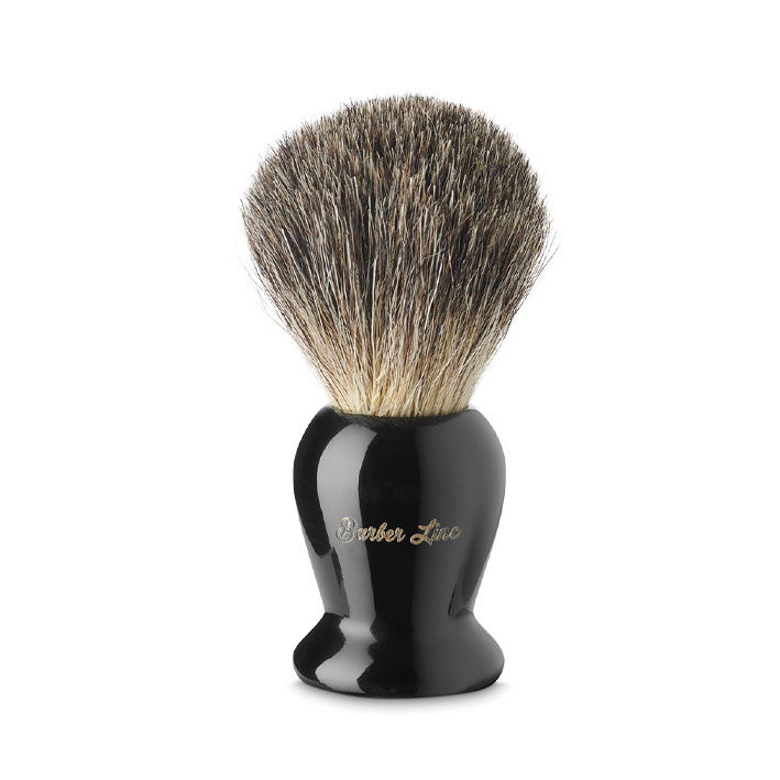 Barber Line Shaving Brush Black Handle 06183 - štetka na holenie