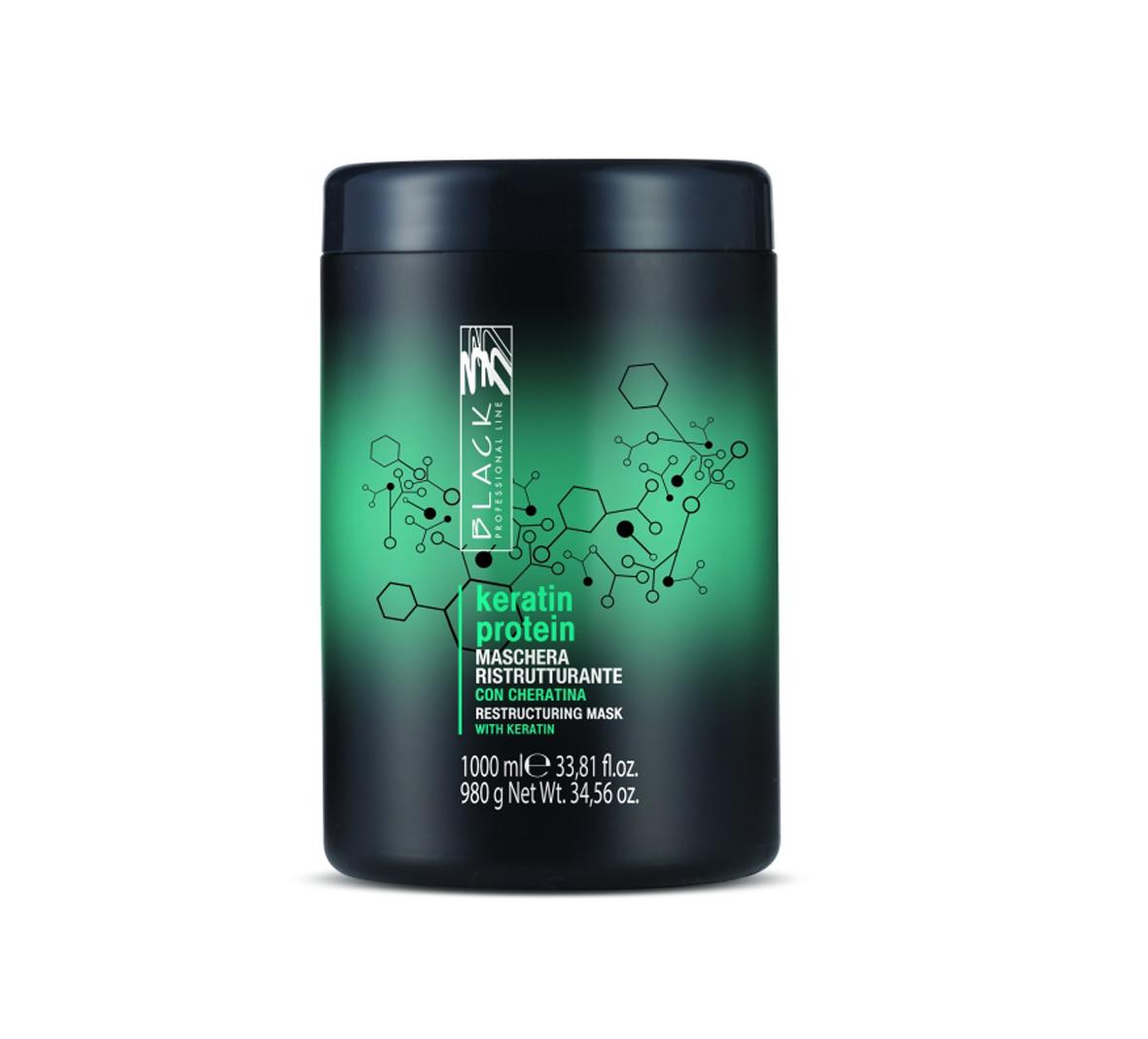 Black Keratin Protein Mask - regeneračná maska na vlasy, 1000 ml
