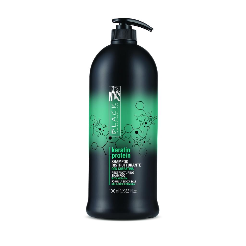 Black Keratin Protein Shampoo - regeneračný šampón, 1000 ml