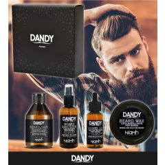 DANDY Gift Box - šampón, 300 ml + sanitizer, 100 ml + olej na bradu, 70 ml + vosk na bradu, 50 ml