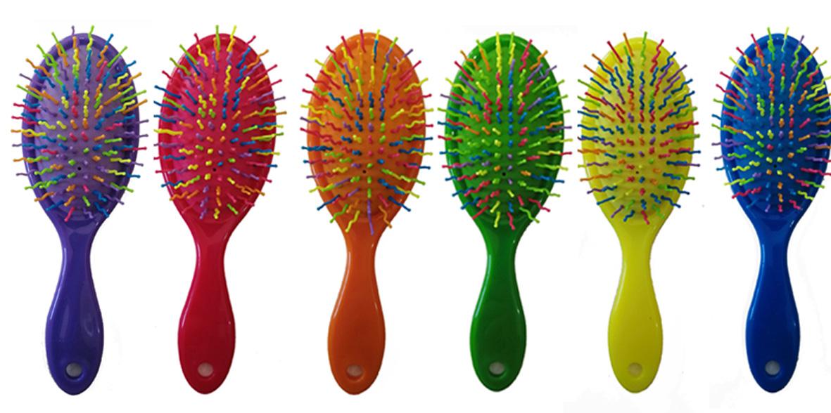 EF:ES 9777 -  farebné kefy na rozčesávanie vlasov