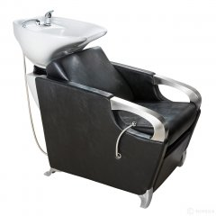 Kadernícky umývací box ATLAS biele umývadlo, matna čierna