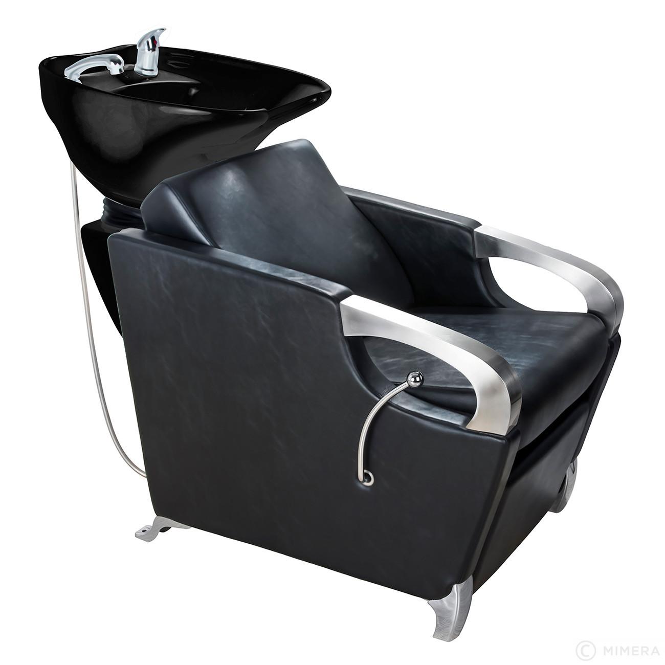 Kadernícky umývací box ATLAS lesklá čierna + Ragnar Galaxy - strihací strojček