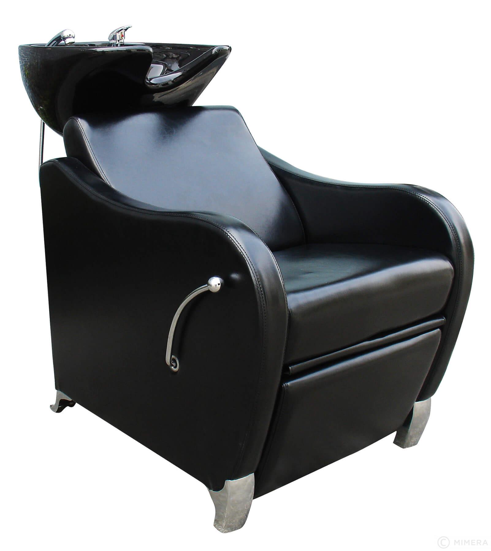 Kadernícky umývací box GLAMI - čierne umývadlo, lesklá čierna