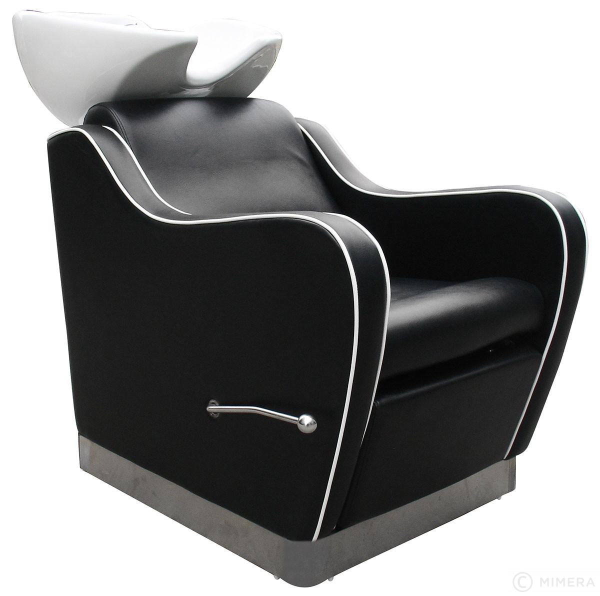 Kadernícky umývací box NOBLE biele umyvadlo, matná čierna + Ragnar Galaxy - strihací strojček