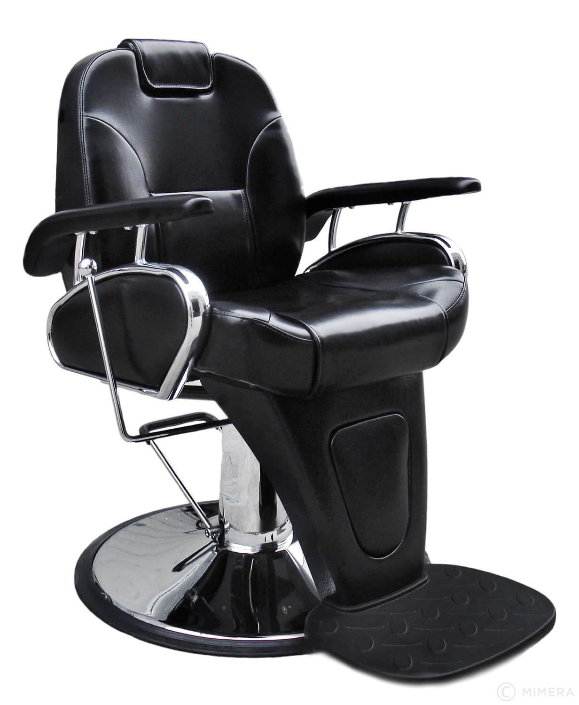 Barber křeslo LEON - lesklá černá