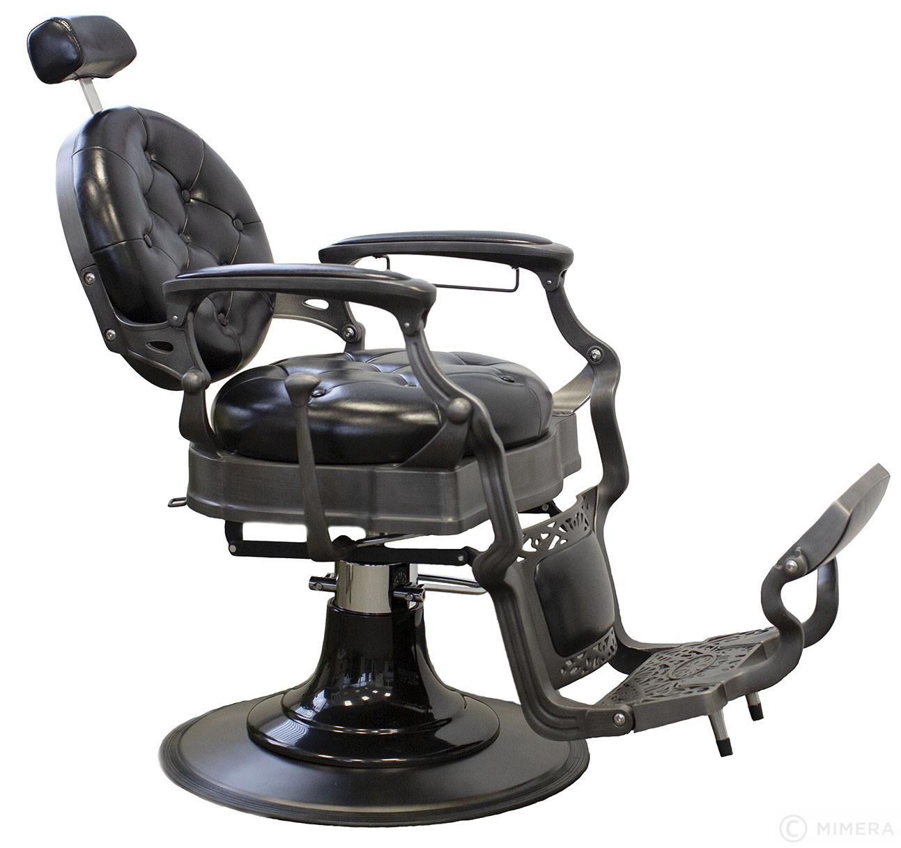 Retro Barber kreslo MONET - lesklé čierne