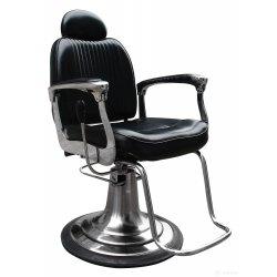 Barber křeslo ARMAN - lesklé černé