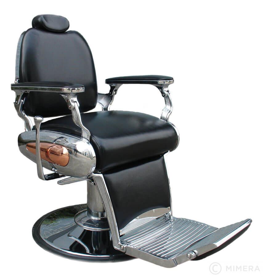 Barber křeslo DALI - lesklá černá +  Ragnar Galaxy - stříhací strojek a Ragnar Cosmic - konturovací strojek