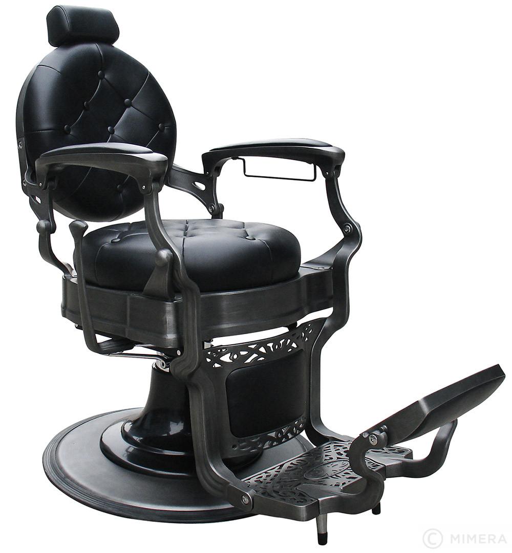 Retro Barber křeslo MONET - matné černé
