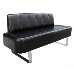Židle do čekárny 44101B4 lesklá černá