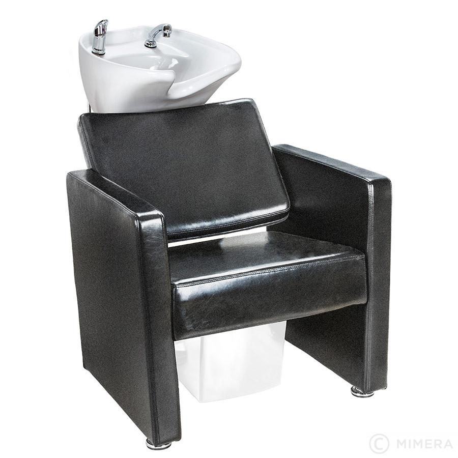 Kadernícky umývací box LORA - biele umývadlo, matná čierna